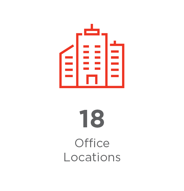 18 office locations
