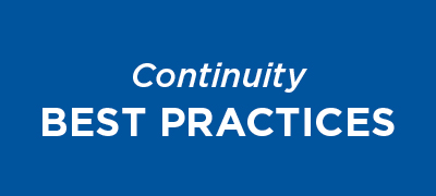Continuity best practices