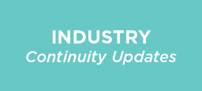 Industry continuity updates